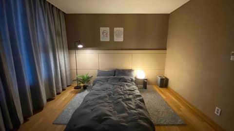 [장기거주환영] Free WiFi / 종합운동장 2분, 잠실새내 5분! 아늑한 갬성 하우스