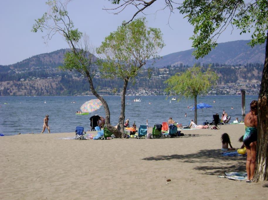 The beaches, quick energetic walk and enjoy world famous Okanagan sunshine.