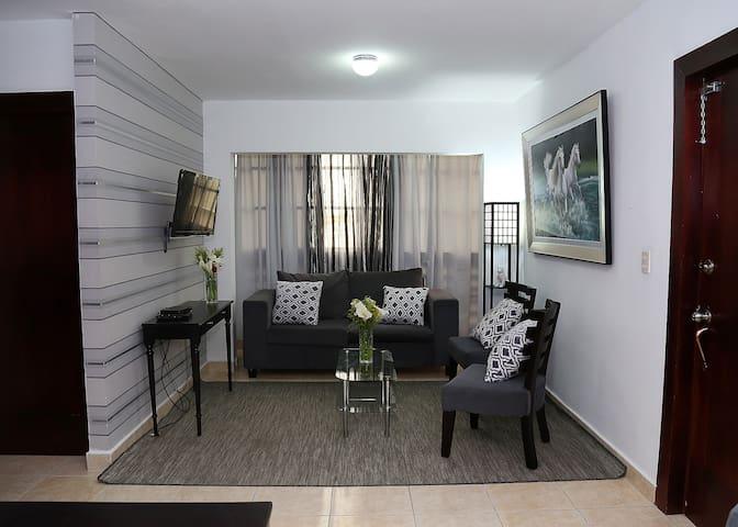 Wi- Fi , King bed, A/C ,Great Location!! - Santiago De Los Caballeros - Appartement