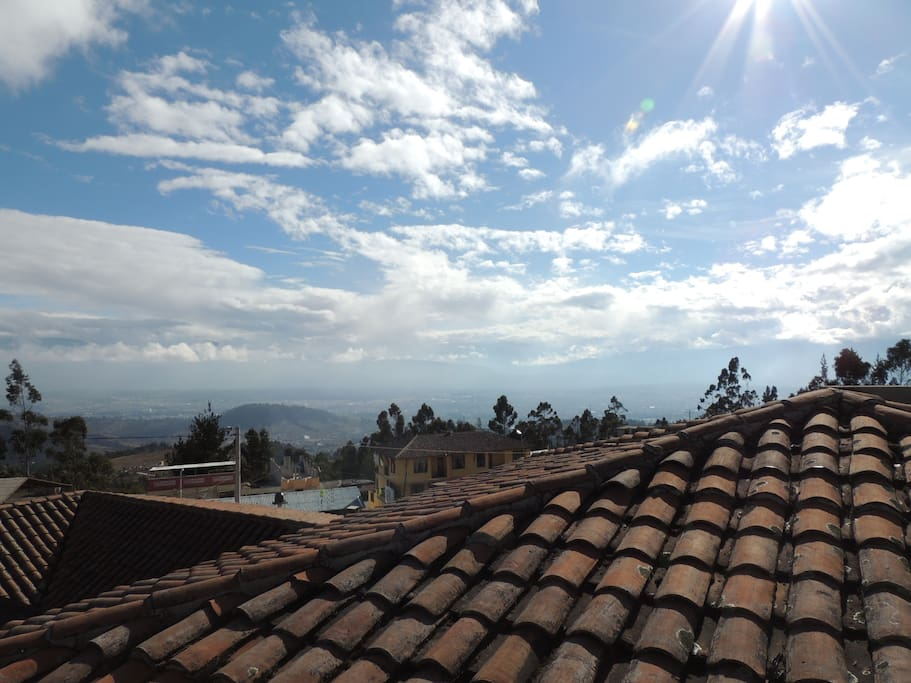 View of the valley of Riobamba from top mini terrace