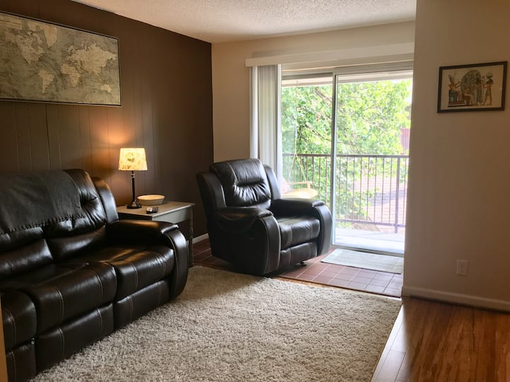 Executive Suite, central location 1bd/1ba + patio