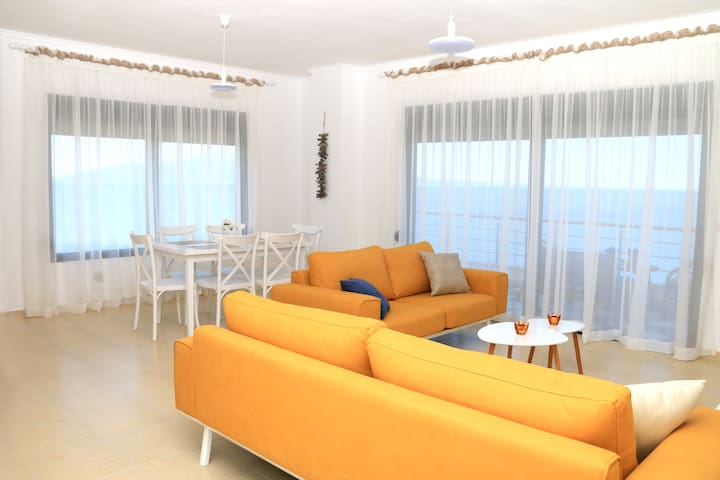 Apartment with sea view balcony, Saranda, Albania