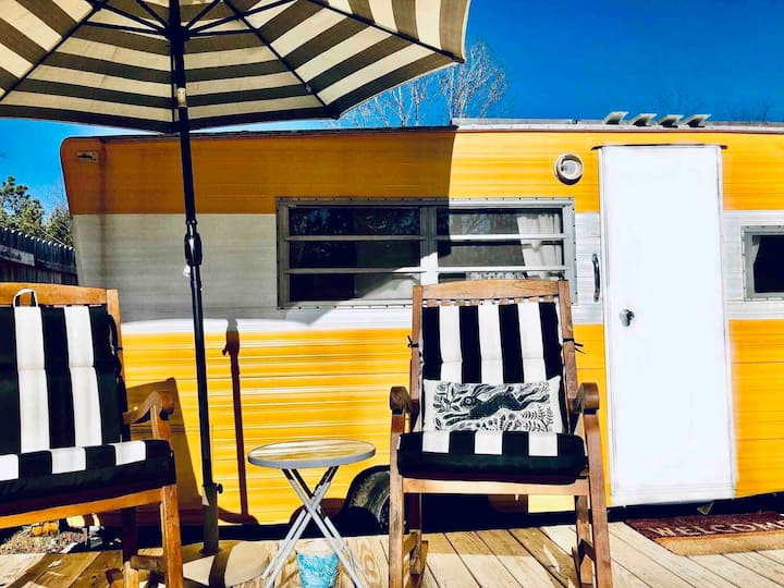 A glamping camper, the WILD HARE near Asheville,NC