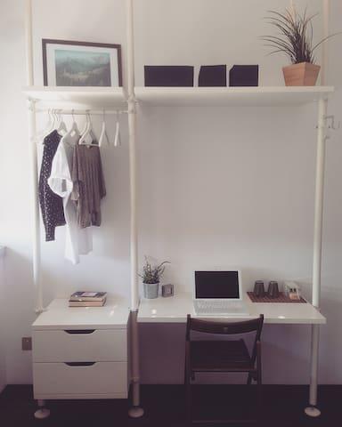 Bedroom open closet