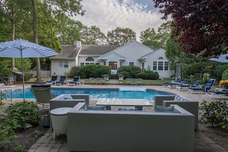 Spectacular Mini-Resort in Westhampton w/ Heated Pool, Game Room, Deluxe Entertainment, Sleeps 20
