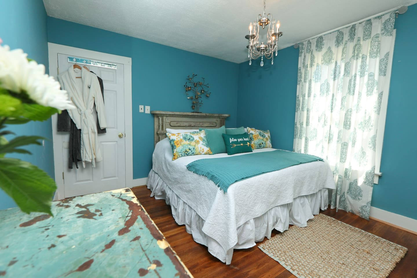 King Bedroom with Luxury Linens and Robes