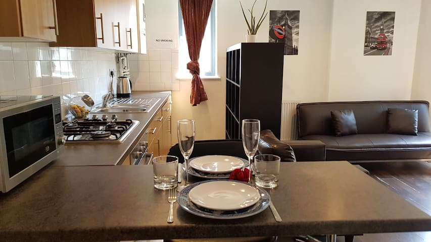 Lovely studio flat in Central London with balcony