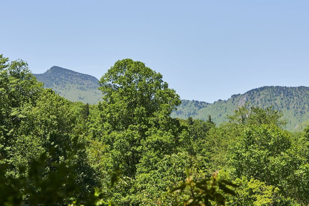 Take in the view of the backside of Grandfather Mountain
