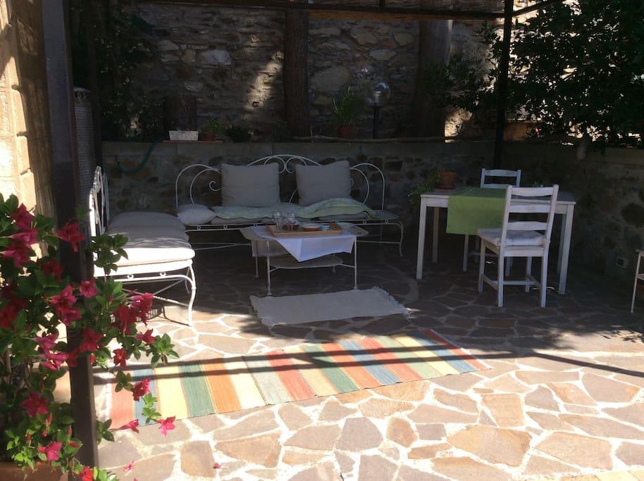 grande patio privato