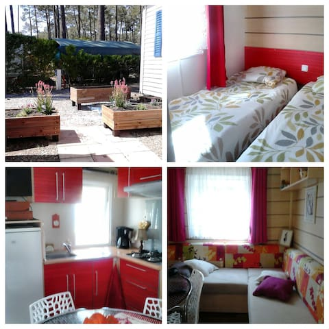 Mobilhome 4 people in Landes France Contis ***