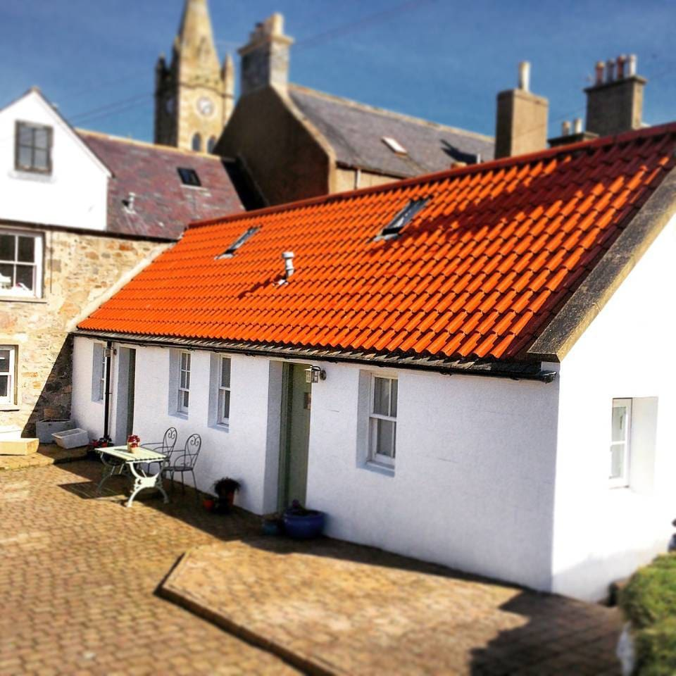The exterior of Seafield Cottage