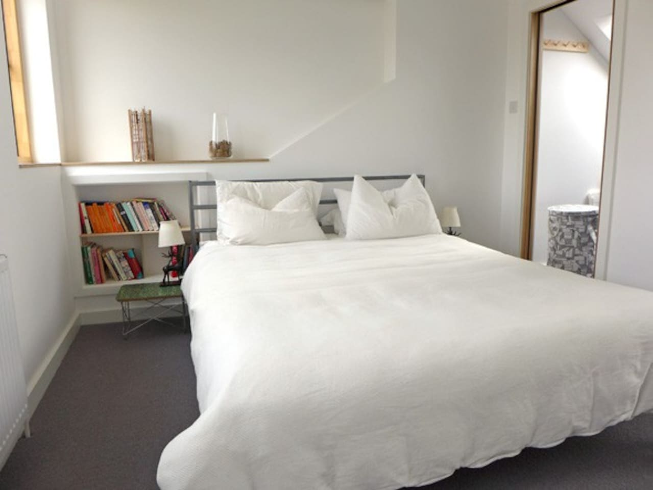 Room - with walk in closet and private en-suite shower room, on top floor.