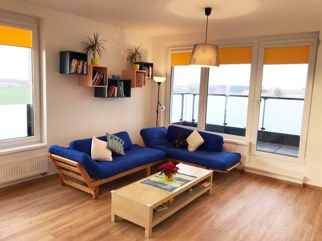 Luxurious apartment, 19 min to center, inc parking