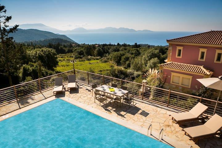 Luxurious brand new villa near Fiscardo with pool - Tzamarelata