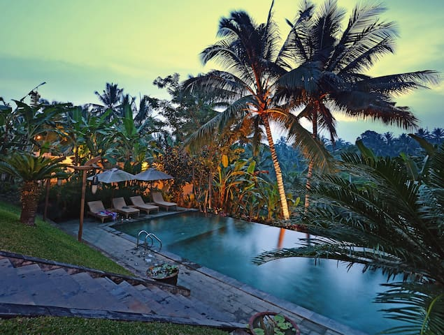 peaceful hotel with lush green valley - Ubud - Bed & Breakfast