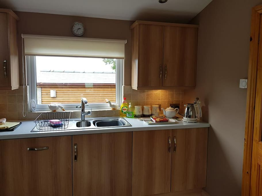 Kitchen fitted with all appliances and ample crockery etc.