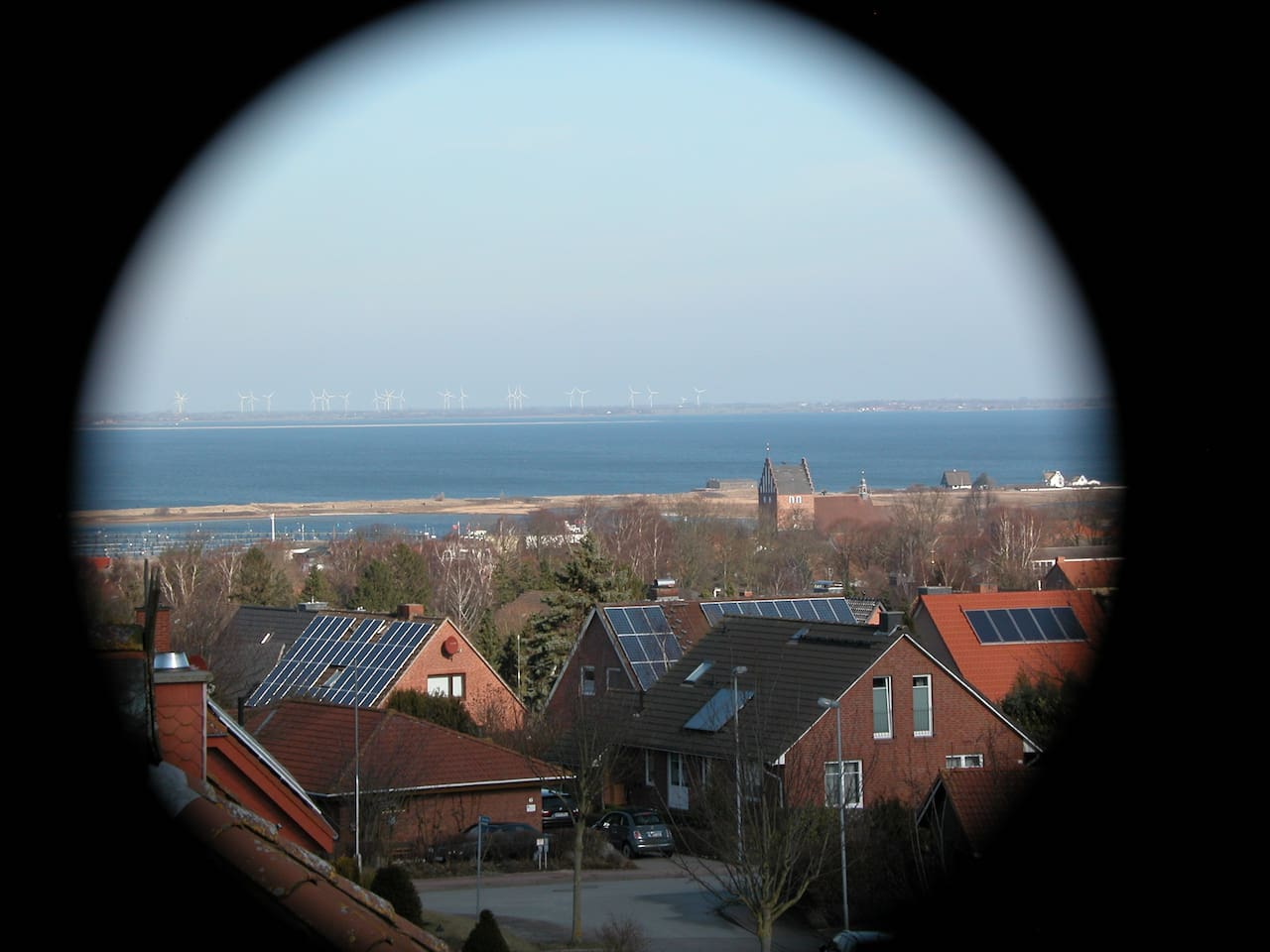 Balkon in Südrichtung mit Blick auf die Ostsee