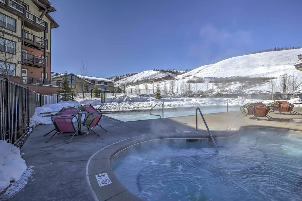 Relax in the community pool and hot tub after a long day on the mountain.