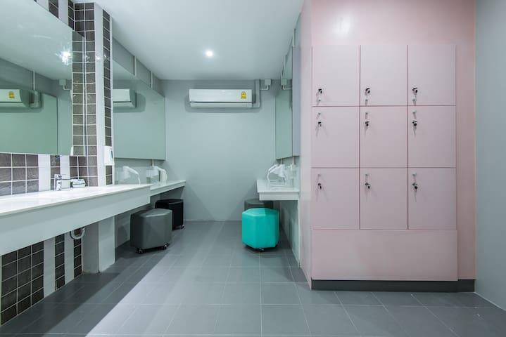 Female shared washroom