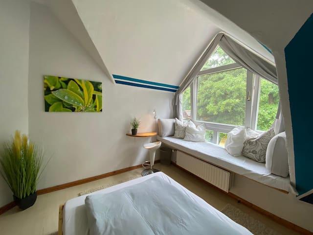 1. Gemütliches Einzelzimmer mit Sauna & Badeteich