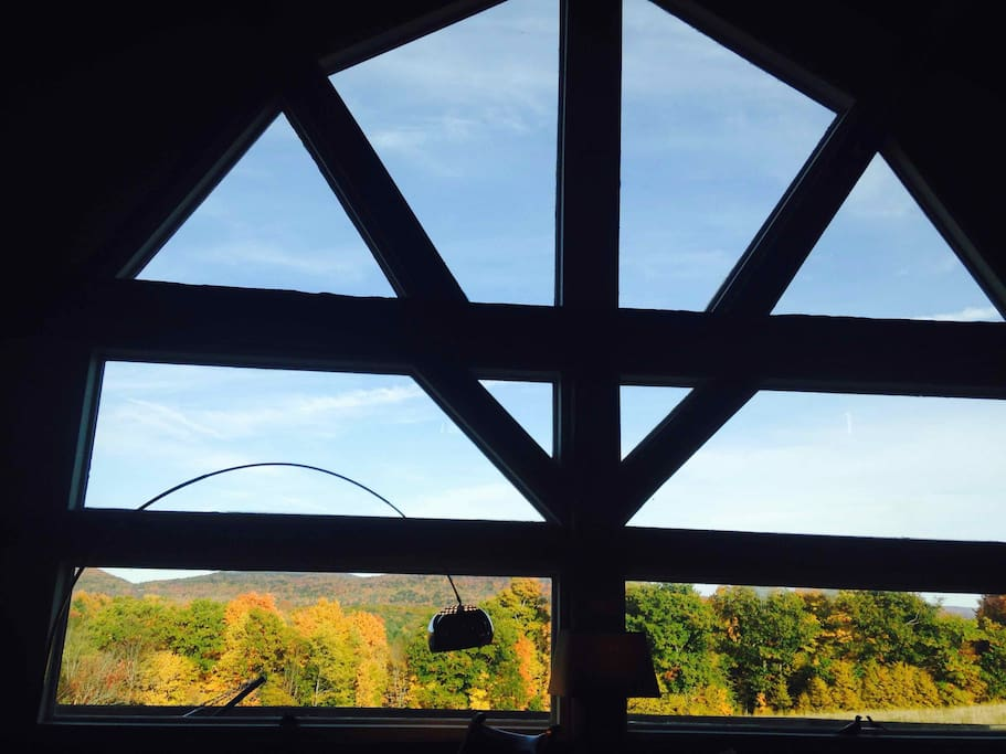 24-foot ceilings with view of 300 acres forever-wild state land