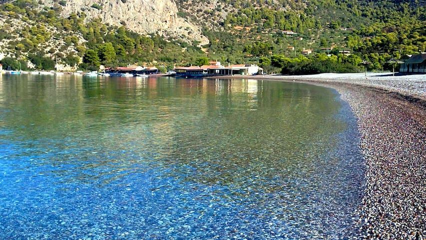 "Beachfront Studios on Psatha bay-Attica Greece ""2"""