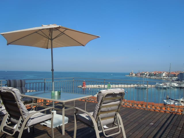 Unique Spacious Sea View apt with Rooftop Terrace