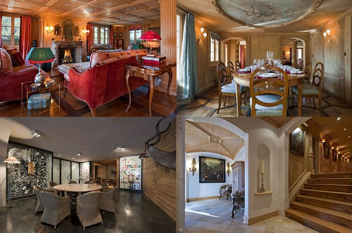 4 bdr chalet - 8 guests - great location