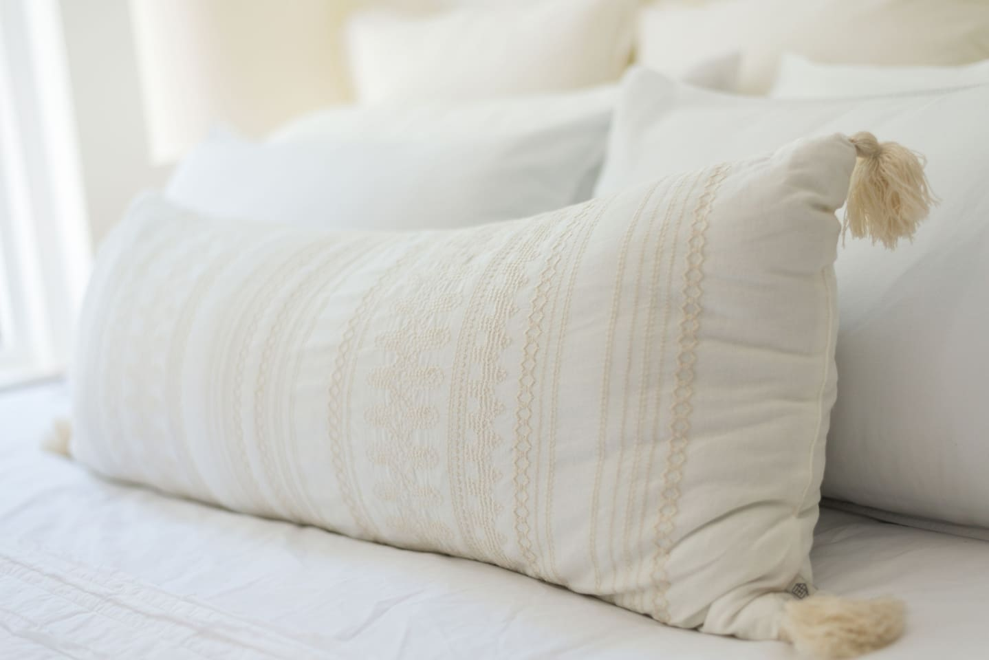 Our beds have 650 thread count sheets and plenty of pillows for a perfect night's sleep.