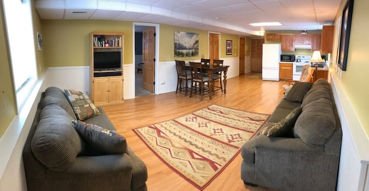 Private Kalispell Suite; full kitchen, laundry