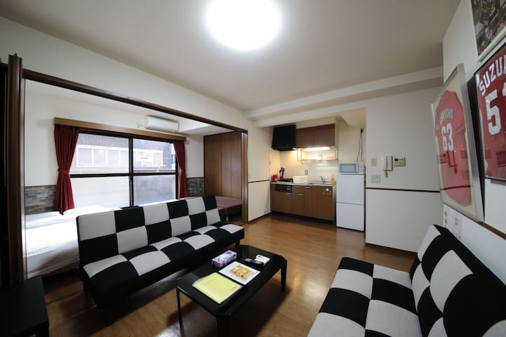 R-304 Large 2 bedroom ,Near Peace Park. Downtown♪