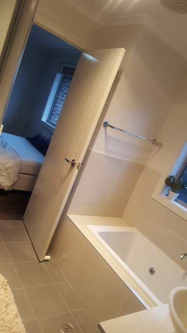 Bathroom attached to bedroom