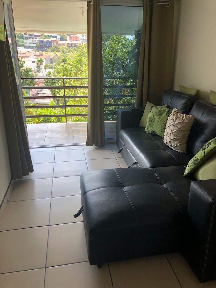 Habitacion con sala y terraza privada