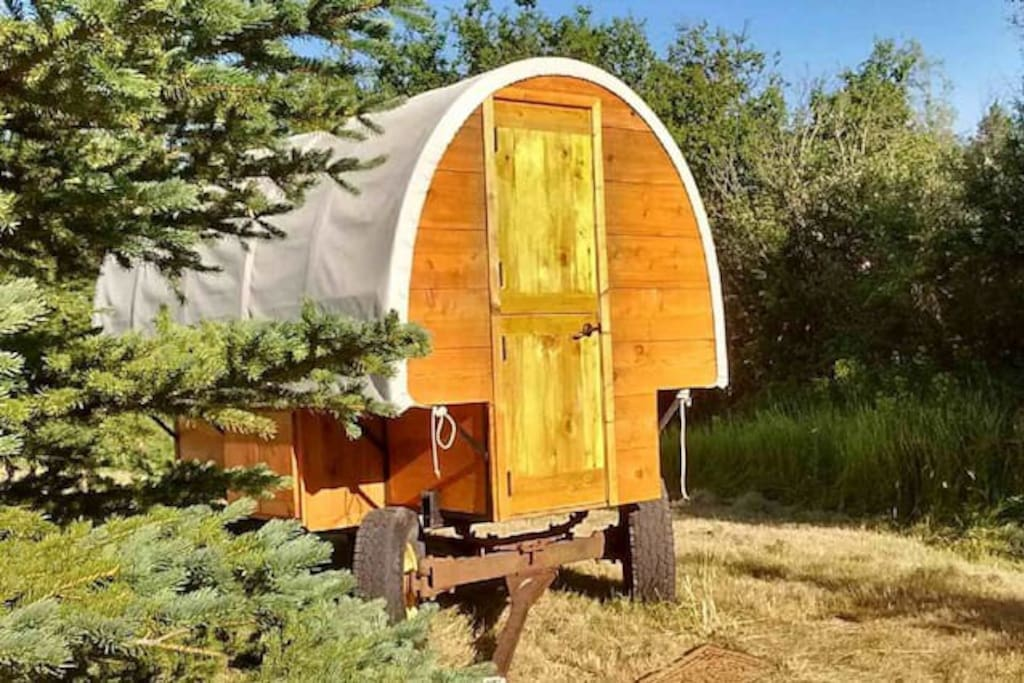 "This Property has TWO Gypsy Wagons .. ""The Enchanting Gypsy Wagon"" & ""The Wanderlust Gypsy Wagon""    Two couples can have a fun getaway in the mountains and choose which wagon they want to stay in for the night."