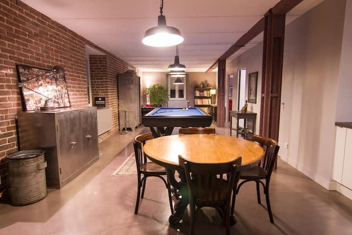 Appartement de style industriel avec parking