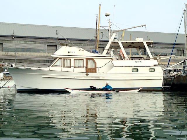 Beautiful Boat in Jaffa Port