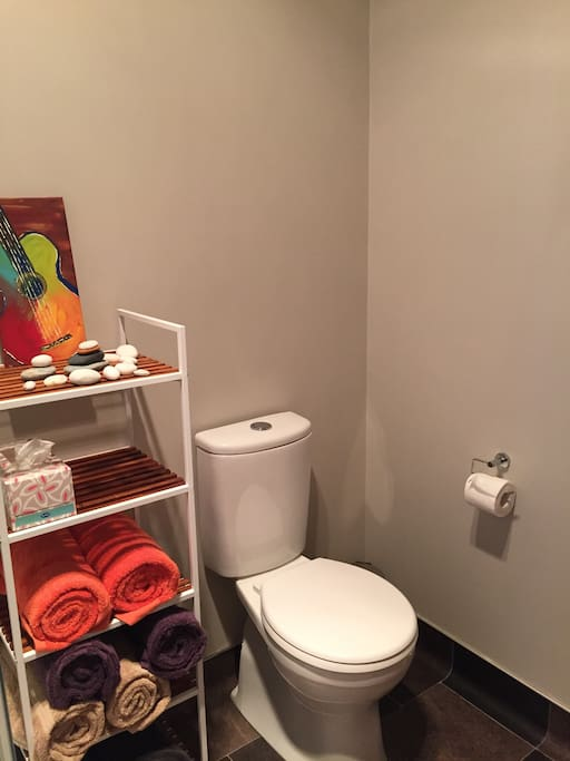 Bathroom with shower to share with other guests