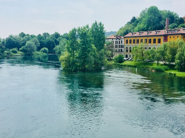 The River House - Apt. in  Filanda sul Fiume Adda