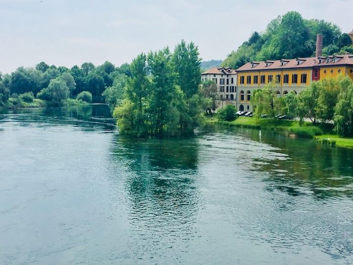 The River House - Apt. in  Filanda sul Fiume Adda
