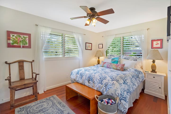 Queen bedroom  with large closet and dresser