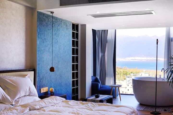 墨山•半山观海别墅海景花园浴缸大床房