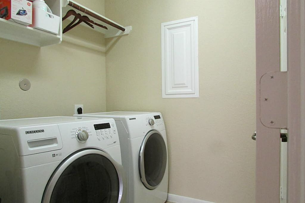 Laundry is downstairs