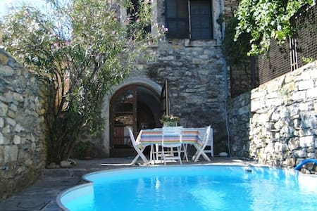 Medieval tower with pool & 360° roof terrace views - Prela' - Ház