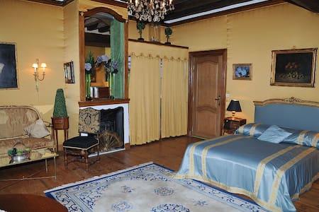 Chambres Bleue et Jaune avec Salons au Chateau - Mignerette