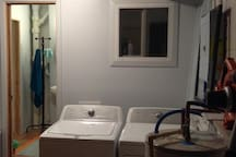 Utility & laundry, separate access from outside, backyard.