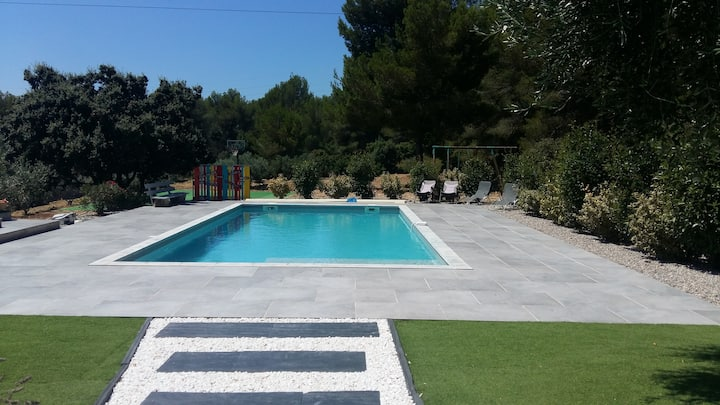 Chambres dans villa au calme avec piscine