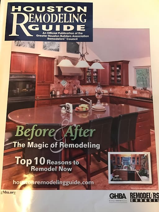 Front page of top remodeling guide Houston