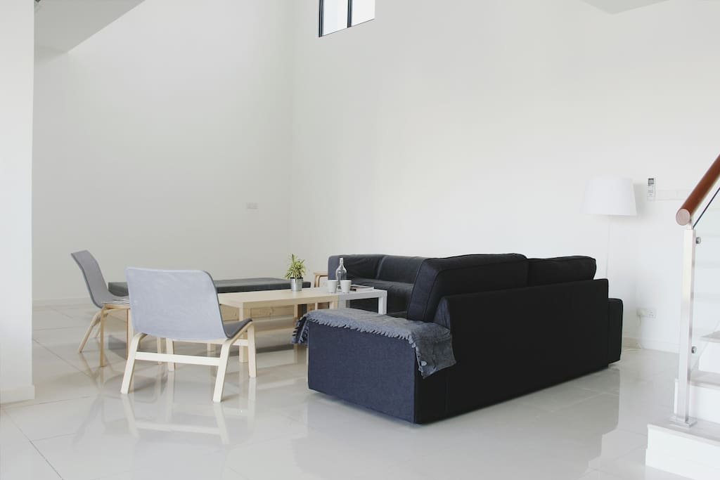 Clean and minimal space. Comfortable furniture