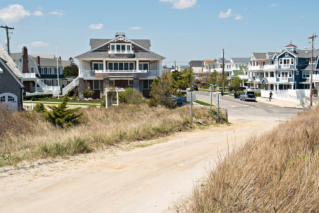 House is steps away from the beach!