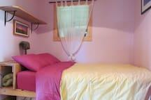 Cozy bedroom with queen eco-matress